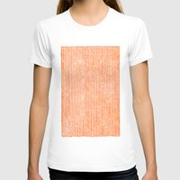 fabric T-shirts featuring Stockinette Orange by Elisa Sandoval