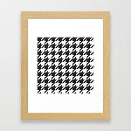 Houndstooth (Black and White) Framed Art Print