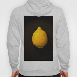 Yellow Lemon On A Black Background #decor #society6 Hoody
