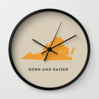 virginia Wall Clocks featuring Virginia by Hunter Ellenbarger