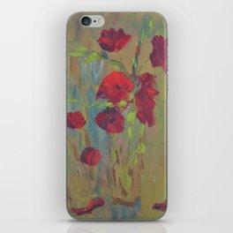 Modern Poppies iPhone Skin