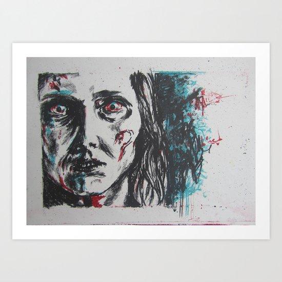 Zombie Portraiture Art Print
