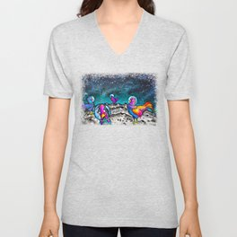 Space Chickens Unisex V-Neck