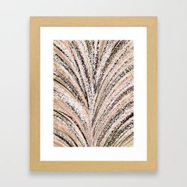 Rose Gold and Glitter Brushstroke Bursts Framed Art Print