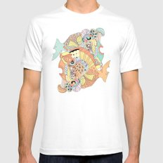 blowfish White Mens Fitted Tee MEDIUM