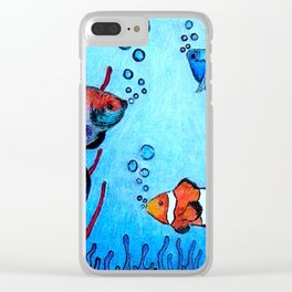 Ocean deep Clear iPhone Case