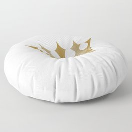Royal Shining Golden Crown for King or Queen Floor Pillow