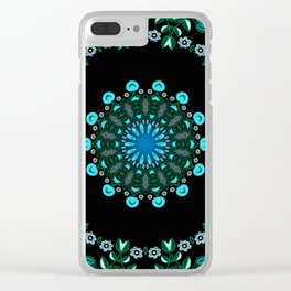 Traveller Tale (green-blue) Clear iPhone Case