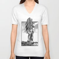 venus V-neck T-shirts featuring VENUS by DIVIDUS