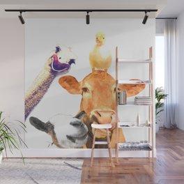 Farm Animal Friends Wall Mural