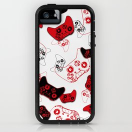 Video Game White and Red iPhone Case