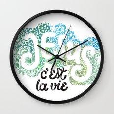 Jésus - c´est la vie Wall Clock