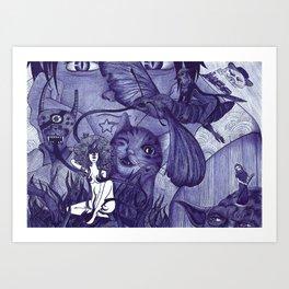 surreal watcher Art Print