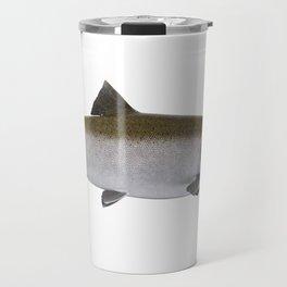 Large Salmon isolated on white background Travel Mug