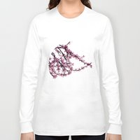 sakura Long Sleeve T-shirts featuring sakura by MILDA HE