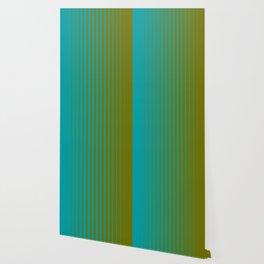 gradient stripes aqua olive Wallpaper