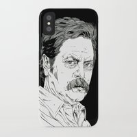 swanson iPhone & iPod Cases featuring Ron Swanson by Andy Christofi