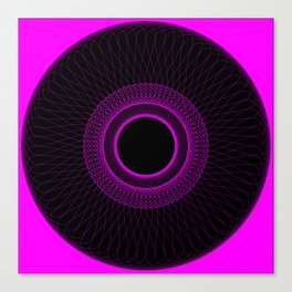 Pink Spirograph Canvas Print