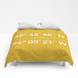 New York Coordinates Comforters