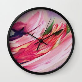 Rose Floral Spray Abstract Wall Clock