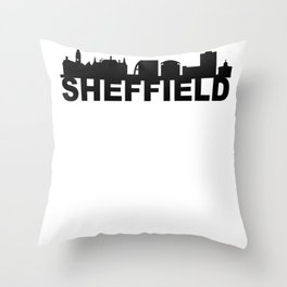Sheffield Great Britain Skyline Gift Idea Throw Pillow