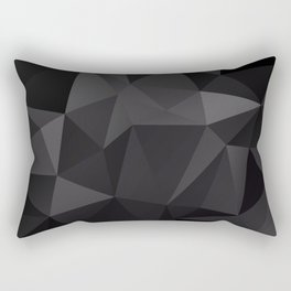 Abstract of triangles polygo in black colors Rectangular Pillow