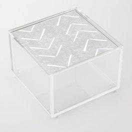 Mudcloth Big Arrows in Grey Acrylic Box