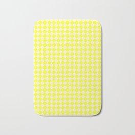 Cream Yellow and Electric Yellow Diamonds Bath Mat