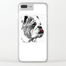 Bulldog Pop Art - How Bout A Kiss 2 - By Sharon Cummings Clear iPhone Case