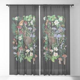 Rabbit and Strawberry Garden Sheer Curtain