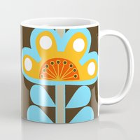 swedish Mugs featuring swedish flowers by Wee Jock