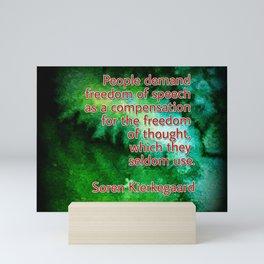 Digable's Quotable 02 Soren Kierkegaard Mini Art Print