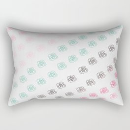 Ombre Rose Patterned Design Rectangular Pillow