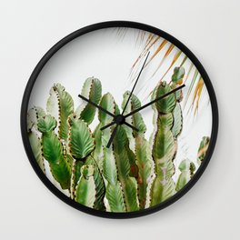 Cactus photo print | Botanical green cactus | Spain travel modern wall art  Wall Clock