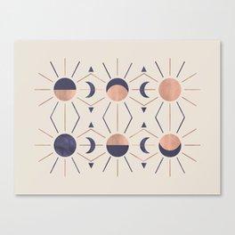 Moon and Light Rosè Version Canvas Print