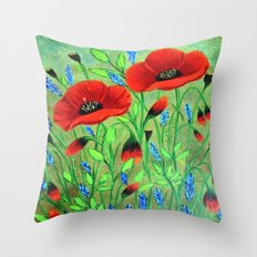 Poppies for you Throw Pillow