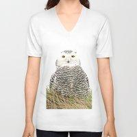 hedwig V-neck T-shirts featuring Hedwig by Ruurd Jelle van der Leij Highkeyart