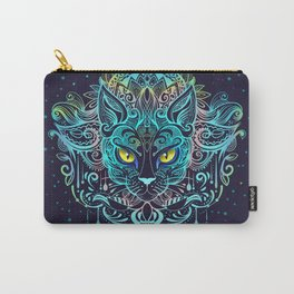 Cat Mandala Carry-All Pouch