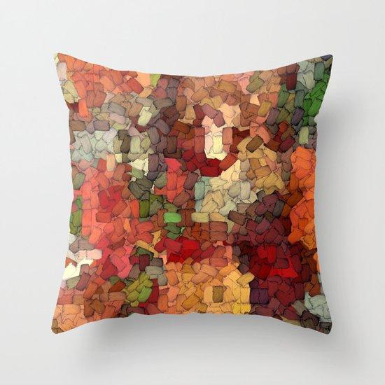 Autumn Inspired Torn Scraps 2492 Throw Pillow