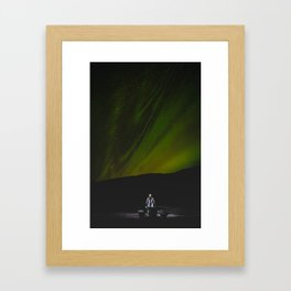 Aurora Borealis. || Northern Light in Iceland. || Travel Shots. Framed Art Print