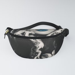 Girl with flowers tattoo Fanny Pack