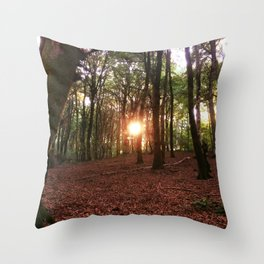 Faggeta's sunset Throw Pillow