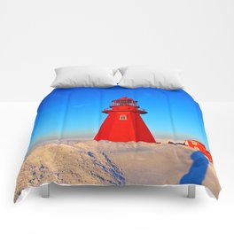 Lighthouse  and Frozen Sea Comforters