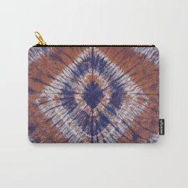 Tie-Dye Shibori Earth Tone With Indigo  Carry-All Pouch