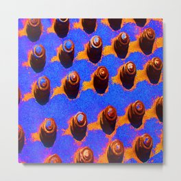 Psychedelic bolts Metal Print