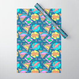 Nineties Dinosaur Pattern Wrapping Paper