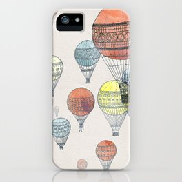 Voyages Hot Air Balloons iPhone Case