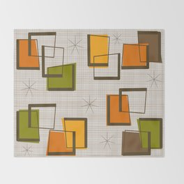 Rectangles and Stars Throw Blanket