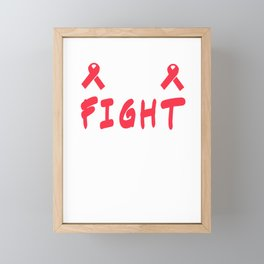 Motivational Courage Tshirt Design CURE Framed Mini Art Print