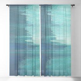 Pixel Sorting 49 Sheer Curtain